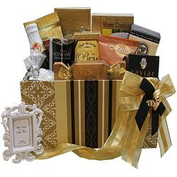To Have and To Hold Wedding or Anniversary Gourmet Gift Box with Caviar (Candy Option)