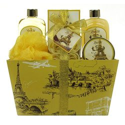 Spa Gift Basket, Spa Basket with Vanilla by Lovestee – Bath and Body Gift Basket, Gift Set ...