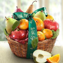 Golden State Fruit Orchard Favorites Gift Basket, Sympathy