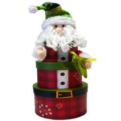 Santa Claus Stacking Christmas Holiday Gift Tower