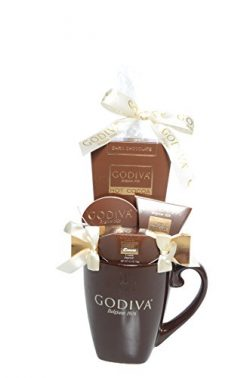 Godiva Brown Mug Chocolate Gift Set – New Assortment For 2017 Holiday Season – Special Select Ch ...