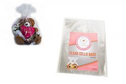 10 Pcs Clear Cellophane Bags – 24×30 1.2 MIL Glossy Cello Bag For Gift Basket Packagi ...