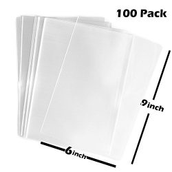 TripodGo 100x Clear Flat Cello/Cellophane Treat Bag 6×10 inch(1.2mil) Gift Basket Supplies
