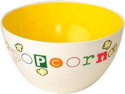 Wabash Valley Farms Yellow Fun Time Popcorn Bowl – Perfect for Family Night
