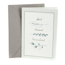 Hallmark Sympathy Greeting Card (Loved, Honored, Remembered)