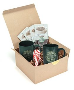 Starbucks Gourmet Hot Cocoa Holiday Gift Basket Set – Classic and Creamy Chocolate Packets ...