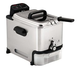 T-fal FR8000 Oil Filtration Ultimate EZ Clean Easy to clean 3.5-Liter Fry Basket Stainless Steel ...