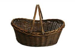Wald Imports Brown Willow 19.5″ Decorative Storage Basket