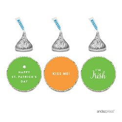 Andaz Press Chocolate Drop Labels Trio, Fits Hershey's Kisses, St. Patrick's Day Kis ...