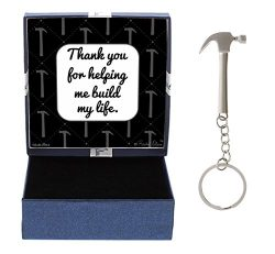 Fathers Day Gifts for Dad Thank You for Helping Me Build My Life Birthday Gifts for Dad Daughter ...