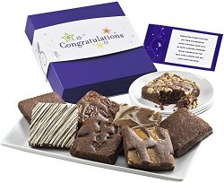 Fairytale Brownies Congratulations Brownie Eight Gourmet Food Gift Basket Chocolate Box –  ...