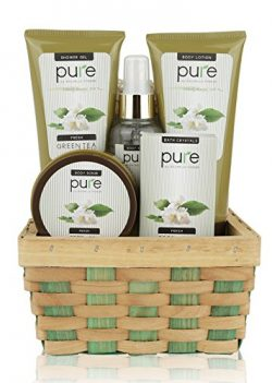 Pure! Herbal Collection Spa Basket – #1 Birthday Gift Basket for Women! Keeps Giving! Touc ...