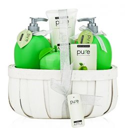 Pure! Rachelle Parker Luxury Spa Basket- Lush Bath & Body Basket to Hydrate Naturally! Best  ...