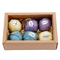 LAIMALA Bath Bombs Gift Set, Organic Natural Essential Oil, Ideal for Spa & Beauty, Skin Car ...