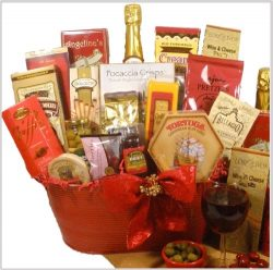 """Delight Expressions™ """"Christmas Cheer"""" Holiday Gourmet Food Gift Basket"""