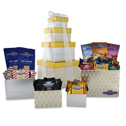 Ghirardelli 4 Tier Tower Holiday Chocolate Gift Set, Gold/Silver, 27.2 Ounce