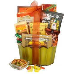 Broadway Basketeers Gourmet Sweets, Nuts & Snacks gift Basket.  A Great Gift Basket To Give  ...