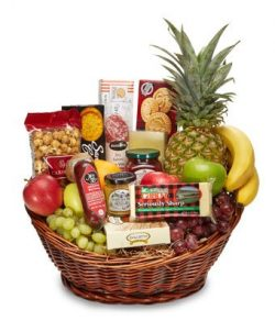 Thanksgiving Gifts Abundant Gourmet and Fruit Basket