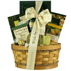 GreatArrivals Thinking Of You Sympathy Gift Basket, 4 Pound