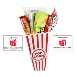 Movie Night Popcorn, Candy And Redbox Movie Gift Basket ~ Includes Movie Theater Butter Popcorn, ...