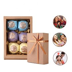 Bath Bombs Gift Set by Rackarster, All Natural Lush Essential Oils for Dry Skin, Perfect for Aro ...