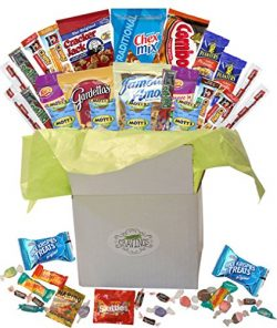 Snack Gift Basket Care Package with Sweet and Salty Snacks 26 Count Plus Bonus Candy | For Colle ...