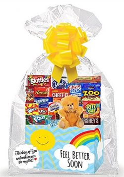 Feel Better Soon (Get Well) Thinking Of You Cookies, Candy & More Care Package Snack Gift Bo ...