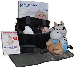 Baby Diaper Bag Gift Basket: New Mom Shower Gifts Set with Travel Changing Pad, Lullabies, Stuff ...