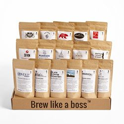 Bean Box Seattle Deluxe Coffee Tour Gourmet Sampler – (whole bean, 16 roasts, 16 roasters, ...