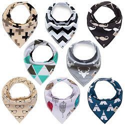 "Baby Bandana Drool Bibs 8-pack for Boys and Girls, unisex, Baby Shower Gift, ""Little Musta ..."