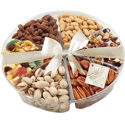 Nuts and Dried Fruit Gift Tray – A Great Healthy Gift, 2 Pounds