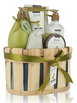Pure! Rachelle Parker Luxury Pear Spa Gift Basket – Deluxe Edition – Super Size Wrap ...