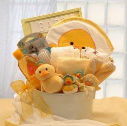 Bath Time Baby Gender Neutral Baby Gift Basket -Medium