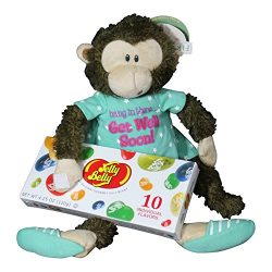 Get Well Gifts – 8 Cuddly Marvin Monkey Hang In There Plush Get Well Soon Gift with Jelly  ...