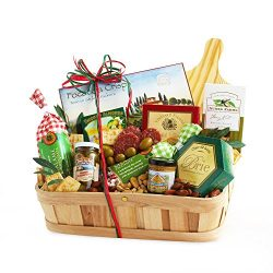 California Delicious Country Picnic Meat and Cheese Basket