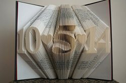 Folded Book Art -Joy – Customizable, Joyful, happiness, happy – Paper Anniversary Gi ...