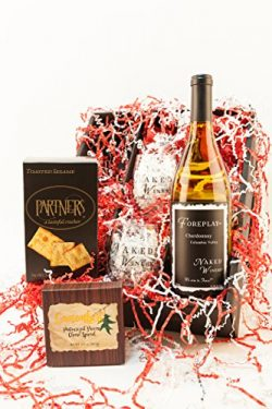 Love Always, Oregon Wine and Cheese Basket Gift Set, Chardonnay 1 x 750 mL
