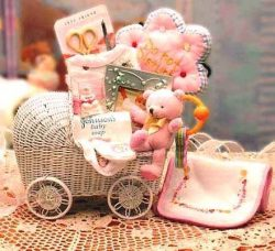 Baby Carriage New Baby Gift Set -Teal Neutral Baby Gift