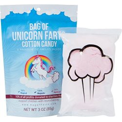 Bag of Unicorn Farts (Cotton Candy) Funny for All Ages Unique Stocking Stuffer White Elephant Ga ...