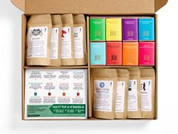 Bean Box Gourmet Coffee and Chocolate Deluxe Gift Box – (8 handpicked roasts + 8 chocolate ...