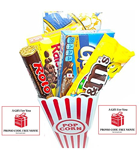 Night Popcorn Candy And Redbox Gift Basket Includes Theater Er