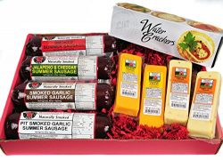 Mancave Ultimate Men's Cheese & Sausage Gift Basket – features Summer Sausages,  ...