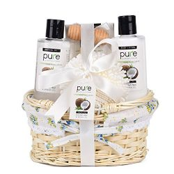 Coconut Milk Nourishing Skin Care with Argan Oil Gift Basket! Perfect Anniversary Gift for Women ...