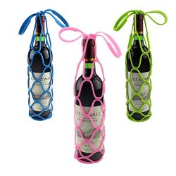 ESport Multifunctional Silicone Wine Bottle Carrier Holders, 2 in 1 Heat Resistant Soft Place Ma ...