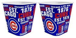 Chicago Cubs 3 Liter Reusable Plastic Snack Bucket 2 Pack