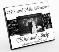 Personalized Gift – Mr. & Mrs. Bride & Groom Wedding Picture Photo/Photograph Fram ...