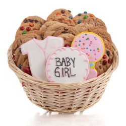 It's A Girl! Cookie Gift Basket- 24 Pc.