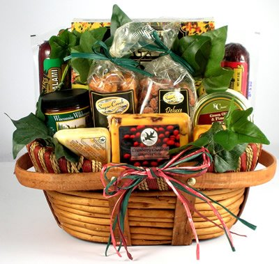 The Midwests Best Deluxe Sausage And Cheese Gift Basket For Men