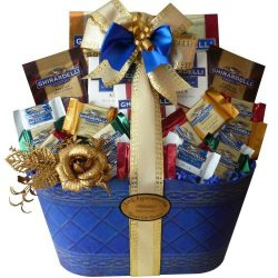 Love and Joy of Ghirardelli Chocolate Gift Basket (Ice Packaging)
