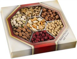 Holiday Assorted Nuts Gift Baskets(7-Flavors) Christmas, New Year's and Thanksgiving Gourmet Mix ...